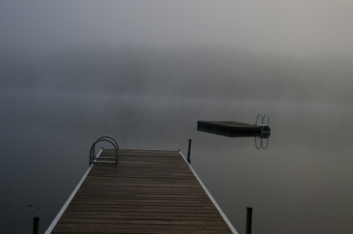 foggy morning on North Otter Lake